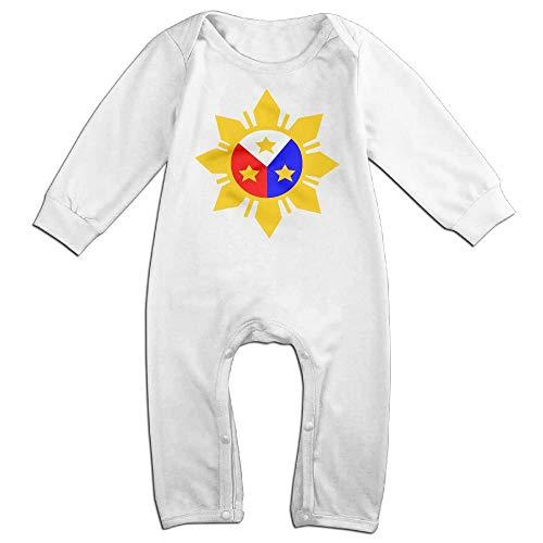 TYLER DEAN Baby Girls Organic Coverall Philippine Flag Logo Design Toddler Jumpsuit White]()