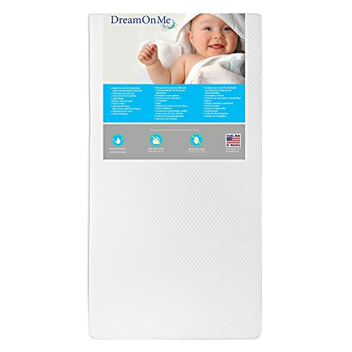 Dream On Me 2 in 1 Foam Core Crib and Toddler Bed Mattress, Lavender, (Foam Core Mattress)