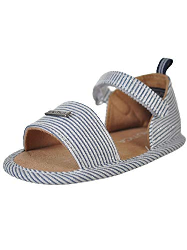 Phat Infant Baby Shoes - Nautica Baby Girls' Sandal Booties - Stripes, 2 Infant