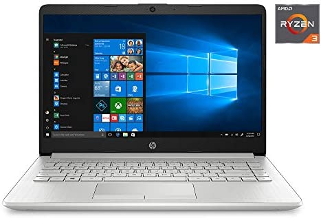 "2020 HP 14"" HD (1366 x 768) Laptop PC, AMD Ryzen 3 3250U Dual-Core Processor, 4GB DDR4 RAM, 1TB Hard Drive, HDMI, AMD Radeon Vega 3 Graphics, Windows 10 Home, Silver (Google Classroom Compatible)"