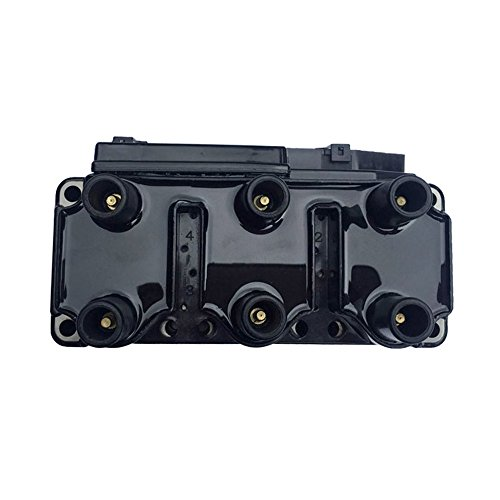 DRIVESTAR 021905106 New Ignition Coil fits Golf EuroVan Jetta 2.8L V6 93-00 VW Jetta Passat VR6 - Vw Eurovan Ignition Coil