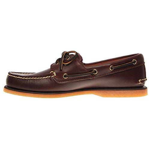 TIMBERLAND 25077 rootbeer zapatos del barco clásico de hombre holgazanes cordones Marrón