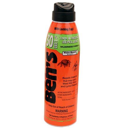 Bens Tick & Insect Repellent 30% Deet 6 Ounce Spray (177ml) (3 Pack) by Ben's