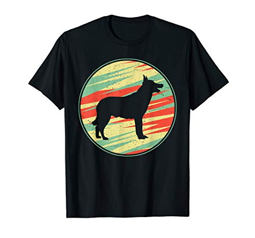 Belgian Malinois Retro Vintage Silhouette Cute Dog Gift T-Shirt
