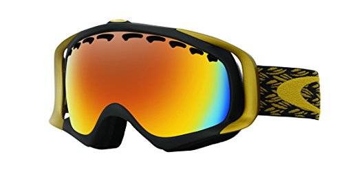 Oakley Crowbar Snow Goggles, Mimic Knit Burnished, Fire Iridium, - Ski Oakley Iridium Goggles Fire