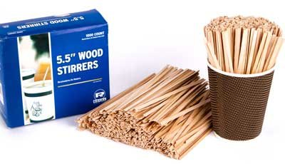 Royal 1000 Count Wood Coffee Beverage Stirrers, 5.5'' by Royal (Image #6)
