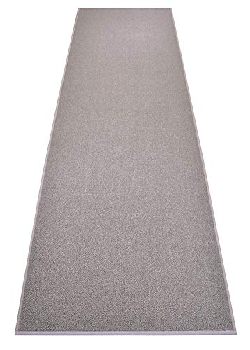 RugStylesOnline Custom Size Solid Grey Roll Runner 36 in Wide x Your Length Choice Slip Resistant Rubber Back Area Rugs and Runners (Grey, 10 ft x 36 in)