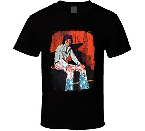 Donny Osmond 70s Celebrity Heartthrobe Vintage Worn Look T Shirt XL Black