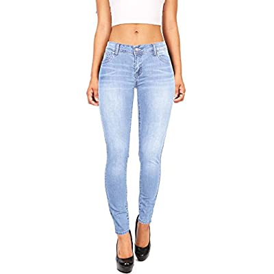 Wax Women's Juniors Basic Stretchy Fit Skinny Jeans at Women's Jeans store