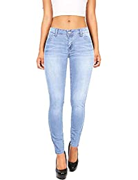 Women's Juniors Basic Stretchy Fit Skinny Jeans