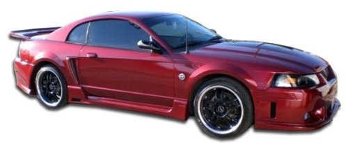 Couture ED-XZO-024 Urethane Special Edition Side Skirts Rocker Panels - 2 Piece Body Kit - Compatible For Ford Mustang 1999-2004