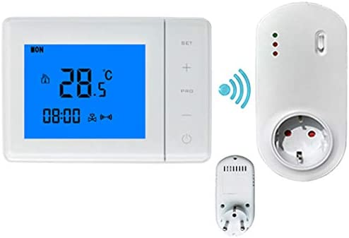 Zenshin WiFi Gas Caldera Termostato programable LCD habitación ...