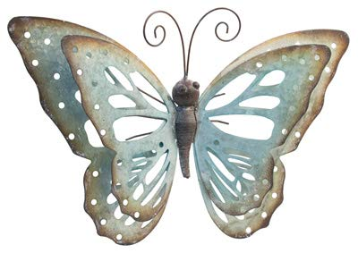 Blue Galvanized Metal Butterfly 20