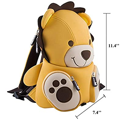 LYCSIX66 Kids Toddler Backpack with Safety Harness Leash Anti-Lost Preschool Bag for Boy Girl Ages 2-5 (Leo Lion) | Kids' Backpacks