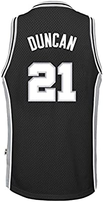 1f3a92e20 Outerstuff Tim Duncan San Antonio Spurs  21 Black Kids Throwback Soul  Swingman Jersey