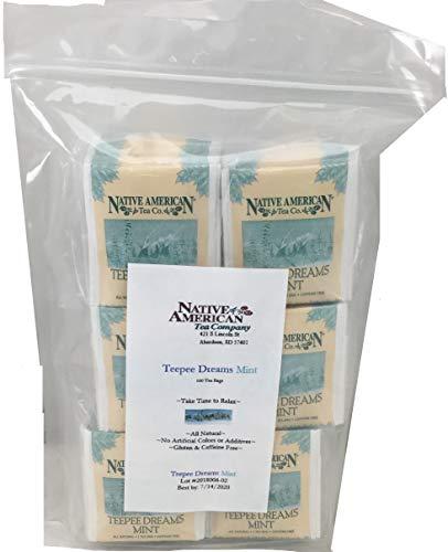 Teepee Dreams Native American Herbal Tea (100 Tea Bags), Peppermint Flavor