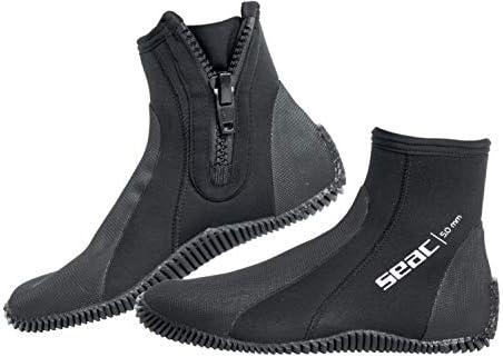 SEAC Seac Regular UnisexAdult 5 mm Neopreen korte Duiklaarzen met Halfharde Zool en Hiel en Enkelbescherming