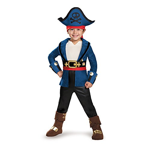 Captain Jake Deluxe Costume, Medium (3T-4T) (Jake And The Neverland Pirate Boots)