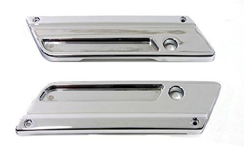 V-Twin 49-0883 - Chrome Saddlebag Latch Face Plate Set
