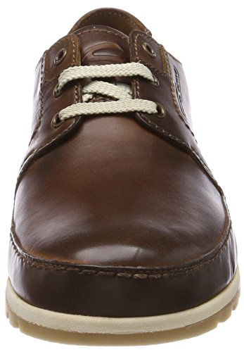 de para Active 13 Zapatos Derby Cordones Point Hombre Marrón Camel Brandy SAI0w0