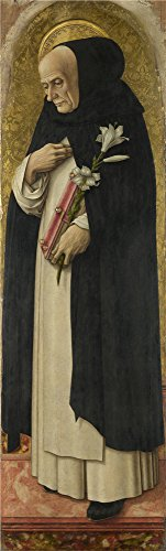 Oil Painting 'Carlo Crivelli - Saint Dominic,1476', 12 x 40 inch / 30 x 101 cm , on High Definition HD canvas prints is for Gifts And Bath Room, Kitchen And Powder Room Decoration, rolled
