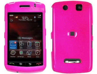 Hard Plastic Hot Pink Phone Protector Case for BlackBerry Storm 9530 9500 (Blackberry Storm Case)