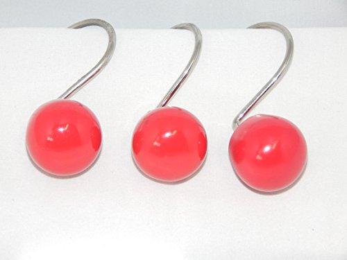 Retro Ball - Red Orbit 12 Shower Curtain