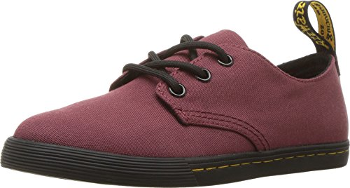 Dr. Martens Kid's Collection Unisex Santanita (Little Kid/Big Kid) Cherry Red T Canvas 3 M UK -