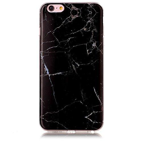 Marble Texture IMD Soft TPU Tasche Hüllen Schutzhülle - Case für iPhone 6s Plus / 6 Plus - schwarz
