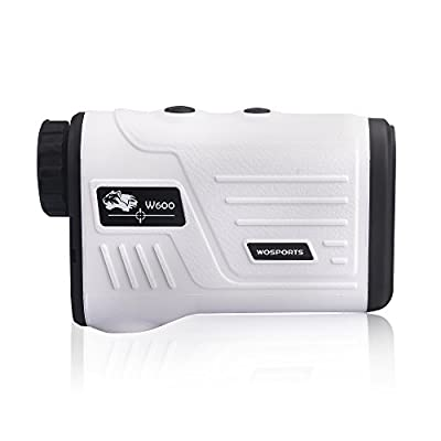 WOSPORTS Golf Rangefinder, Laser Range Finder with 650 Yards Range, Slope, Vibration, Distance/Speed/Scan/Angle Measurement - W600AG by Wosports