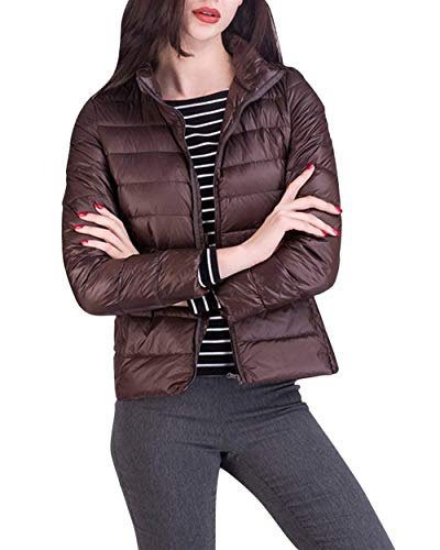 Solidi Coreana Transizione Cappotto Lunga Piumino Slim Fashion Giacca Semplice Fit Invernali Glamorous Piumini Colori Hot Prodotto Eleganti Casual Manica Ultralight Collo Di Plus Kaffee Donna Bq1wax0H