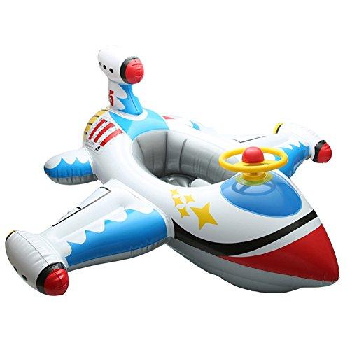 Ocamo Juguete Barco Inflable de Baño o Piscina como Forma Avión,Juguete de Natación de Piscina para Deporte acuático