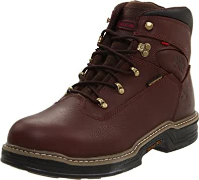 "Wolverine Men's Buccaneer 6"" Contour Welt / Waterproof Boot,Dark Brown,10 EW US"