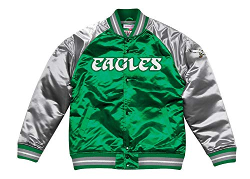 - Mitchell & Ness Philadelphia Eagles Tough Season Satin Jacket (XX-Large)