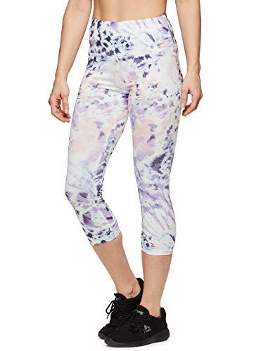 Capri Tie Dye Tights - RBX Active Women's Workout Gym Yoga Leggings Tie Dye Purple S