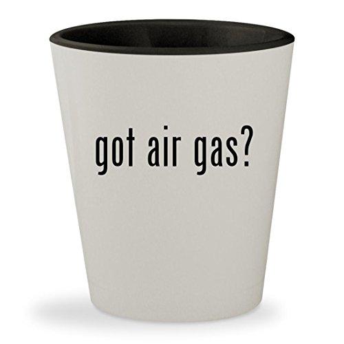 got air gas? - White Outer & Black Inner Ceramic 1.5oz Shot Glass