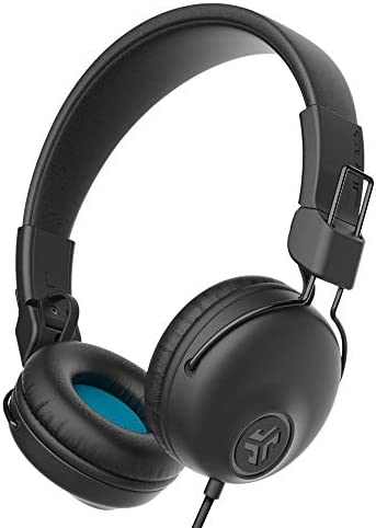 JLab Audio Studio On-Ear Headphones | Wired Headphones | Tangle Free Cord | Ultra-Plush Faux Leather with Cloud Foam Cushions | 40mm Neodymium Drivers with C3 Sound | Black
