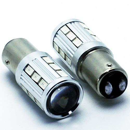 NS LEDPremium 2X Bombillas LED BAY15D P21/5W Premium CANBUS Seat Leon II 2 Red Light LED Lamp Stop Tail: Amazon.es: Coche y moto