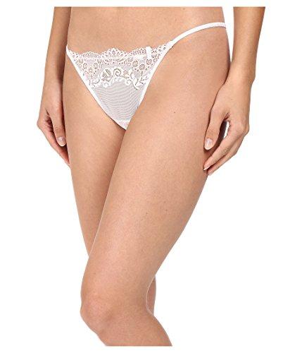 DKNY Intimates Women's Seductive Lights G-String White/Ballet Pink Thongs LG