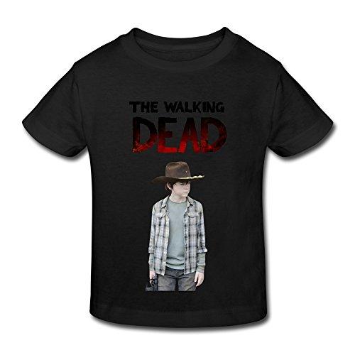 renhe-toddler-cool-the-walking-dead-carl-t-shirts-size-5-6-toddler-black
