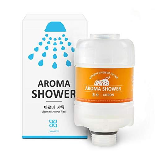 Sum Eco Vitamin C Shower Water Filter - Remove Chlorine Hard Water Softener for Women Baby Children Pet - Reduces Dry Itchy Skin, Dandruff, Eczema, Moisturizing Skin, Hair and Nails, Lead Impurities