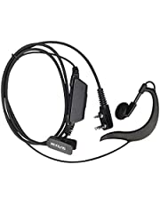 Retevis Two Way Radio Earpiece with Mic G-Shape Police Security Headset for Retevis RT22 RT27 H-777 RT15 RT19 BF-888S UV-5R Walkie Talkie (1 Pack)