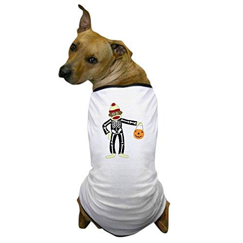 CafePress - Sock Monkey Halloween Dog T-Shirt - Dog T-Shirt, Pet Clothing, Funny Dog Costume -