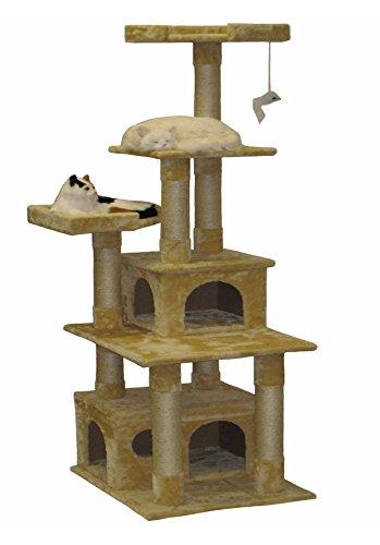 go-pet-club-cat-condo-67-inch-beige