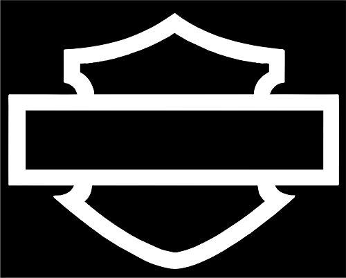 Harley-Davidson Window Bar & Shield Silhouette Die-Cutz Decal (8