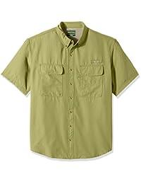 Bass mens big-tall Big and Tall Explorer Charter Short Sleeve Button Down Shirt