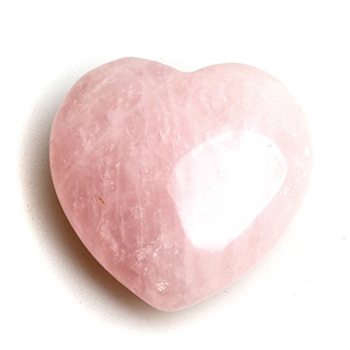 Quartz Genuine Rose Heart - Genuine Rose Quartz Crystal Natural Healing Heart Palm Stone: Inspirational Heart Gifts