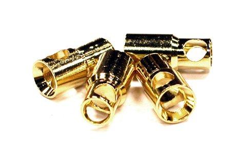Integy RC Model Hop-ups C23505 6mm Gold Bullet Banana Connec