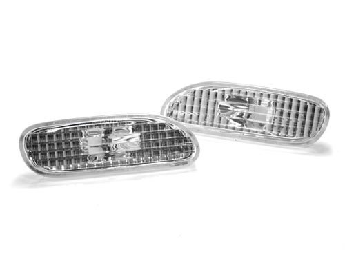 95-99 MITSUBISHI ECLIPSE FRONT BUMPER SIDE MARKER LIGHTS - CRYSTAL CLEAR (Eclipse 99 Stock 98 97)