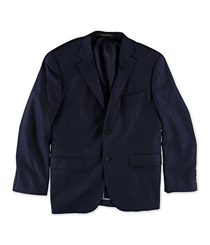 Tasso Elba Mens Long Sleeve Two Button Blazer Jacket Blue XL